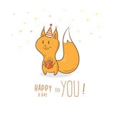 Card with squirrel. Royalty Free Stock Photography