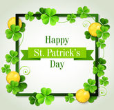 Card for St. Patrick's Day Stock Image