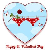 Card by St. Valentine's Day. Stock Photography