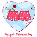 Card by St. Valentine's Day. Stock Photo