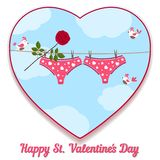 Card by St. Valentine's Day. Royalty Free Stock Image