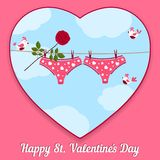 Card by St. Valentine's Day. Royalty Free Stock Photography