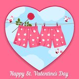 Card by St. Valentine's Day. Stock Images