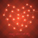 Card for st. Valentine's Day Royalty Free Stock Photography