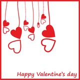Card by a St. Valentine's Day. Royalty Free Stock Image