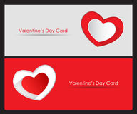Card with St. Valentine's Day. Valentine's Day greeting card with hearts. Vector illustration Vector Illustration