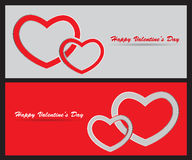Card with St. Valentine's Day. Valentine's Day greeting card with hearts. Vector illustration Stock Illustration