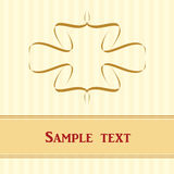 Card with stripes, banner and ornament. Card with qellow stripes, banner and ornament. Vector EPS 10 Stock Photography