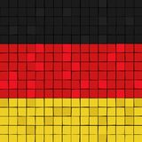 Card stunt or mosaic flag of Germany. Vector Royalty Free Stock Images