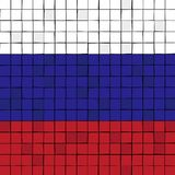 Card stunt or mosaic flag of Russia. Vector Stock Image