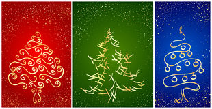 Card with stylization New Year tree Royalty Free Stock Images