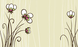 Card with stylized flowers Royalty Free Stock Photos