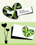 Card with stylized heart tree and text Royalty Free Stock Image