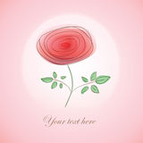 Card with  stylized rose Stock Photos