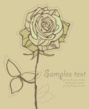 Card With Stylized Rose Vector Stock Photography