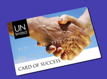 Card of success. For all people royalty free stock photos