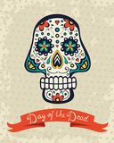 Card with sugar skull Royalty Free Stock Image