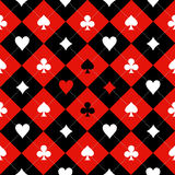Card Suit Chess Board Red Black White Background Stock Image