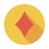 Card suit. Diamonds suit. Flat vector icon for mobile and web applications. Vector illustration Royalty Free Stock Photo