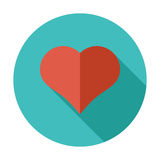 Card suit. Suit of heart. Flat vector icon for mobile and web applications. Vector illustration Stock Photos