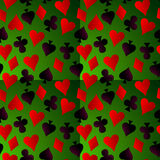 Card suit. Hearts, diamonds, spades and clubs Royalty Free Stock Photography