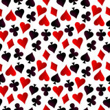 Card suit. Hearts, diamonds, spades and clubs Royalty Free Stock Image