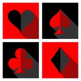 Card suit icons Royalty Free Stock Photo