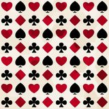 Card suit seamless pattern Royalty Free Stock Photography