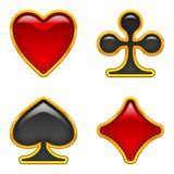 Card Suits Buttons, Set Royalty Free Stock Images
