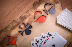 Card suits Royalty Free Stock Photo