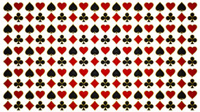 Card suits and poker symbols. Isolated over white Royalty Free Stock Photo