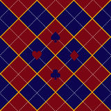Card Suits Red Royal Blue Diamond Background Royalty Free Stock Images