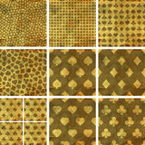 Card suits. Seamless pattern. Royalty Free Stock Image