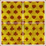 Card suits. Seamless pattern. Royalty Free Stock Photos