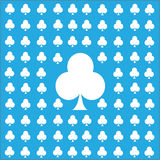 Card suits seamless pattern blue background. Vector illustration eps10 Royalty Free Stock Images