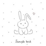 Card with sweet little bunny Stock Image