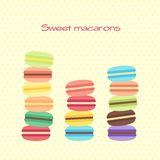 Card with sweet macarons Royalty Free Stock Photography