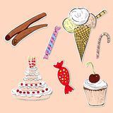 Card with sweets Stock Photo