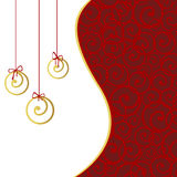 Card with sylized Christmas balls Royalty Free Stock Photos