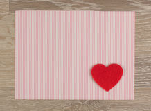 Card with Symbol of Love Stock Images
