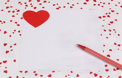 Card with Symbol of Love Stock Photo