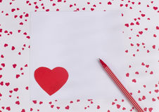 Card with Symbol of Love Royalty Free Stock Photos