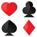 Card symbols Stock Image