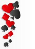 Card symbols background Royalty Free Stock Image