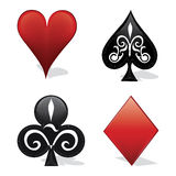 Card symbols Royalty Free Stock Photography