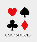 Card symbols. Stock Photo