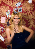 Card-table queen Royalty Free Stock Photography