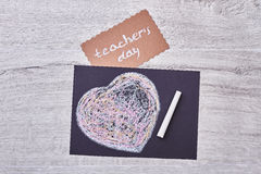 Card on Teacher`s Day. Royalty Free Stock Image