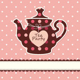Card with teapot Royalty Free Stock Photo