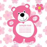 Card with a teddy bear Royalty Free Stock Photography